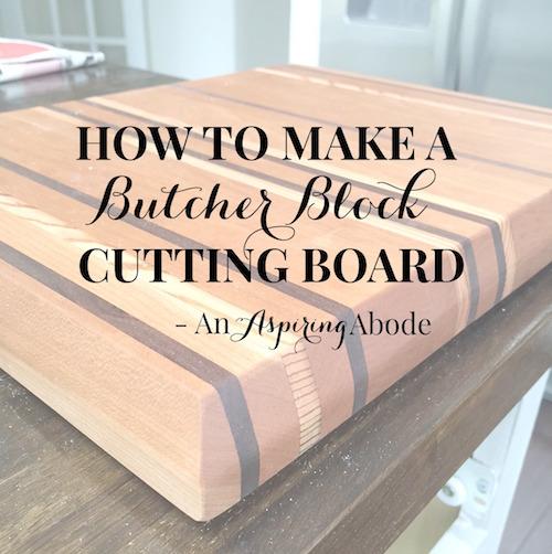 How to make a Butcher Block Cutting Board