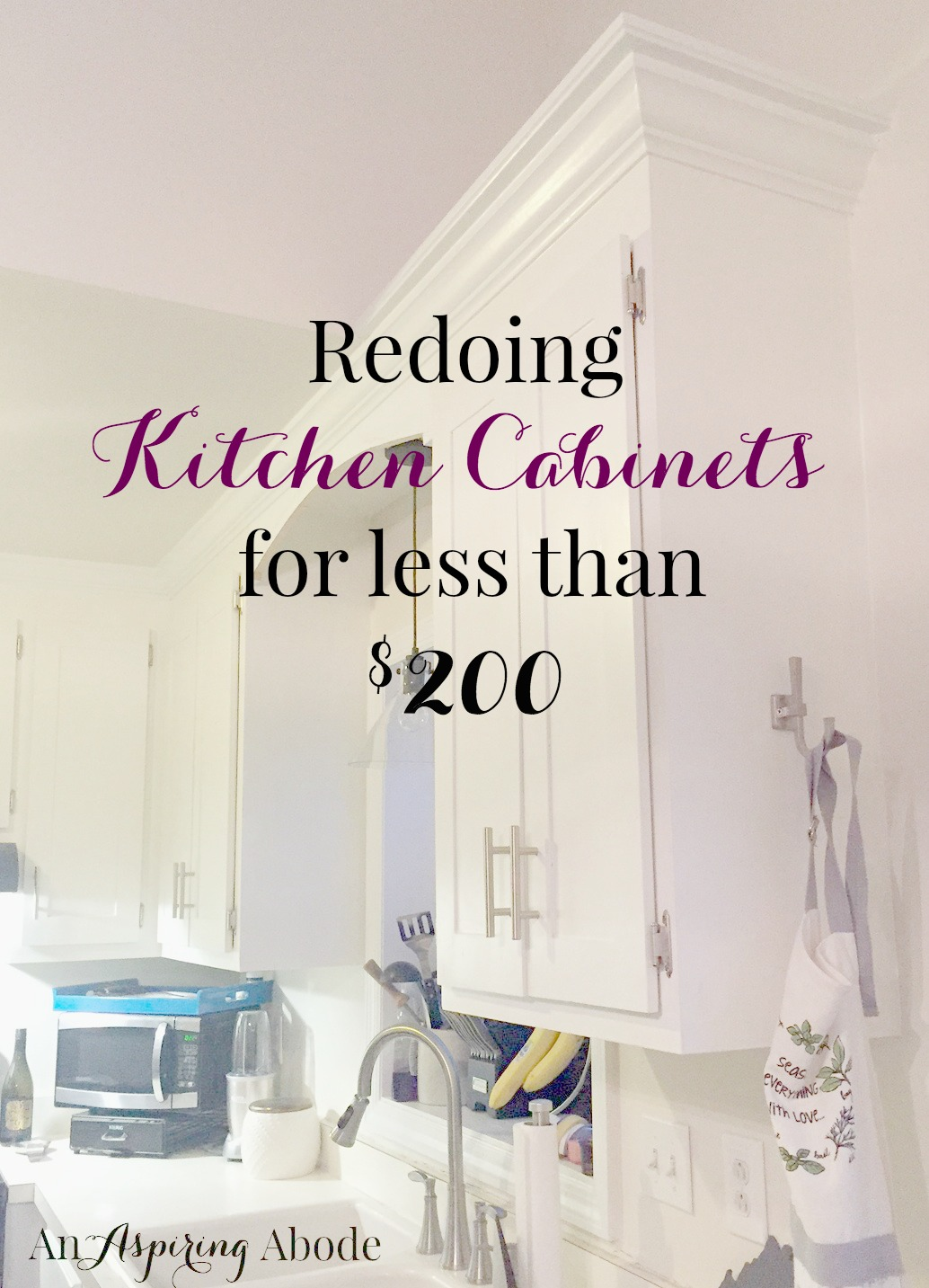 Redoing Kitchen Cabinets For Less Than 200 An Aspiring Abode