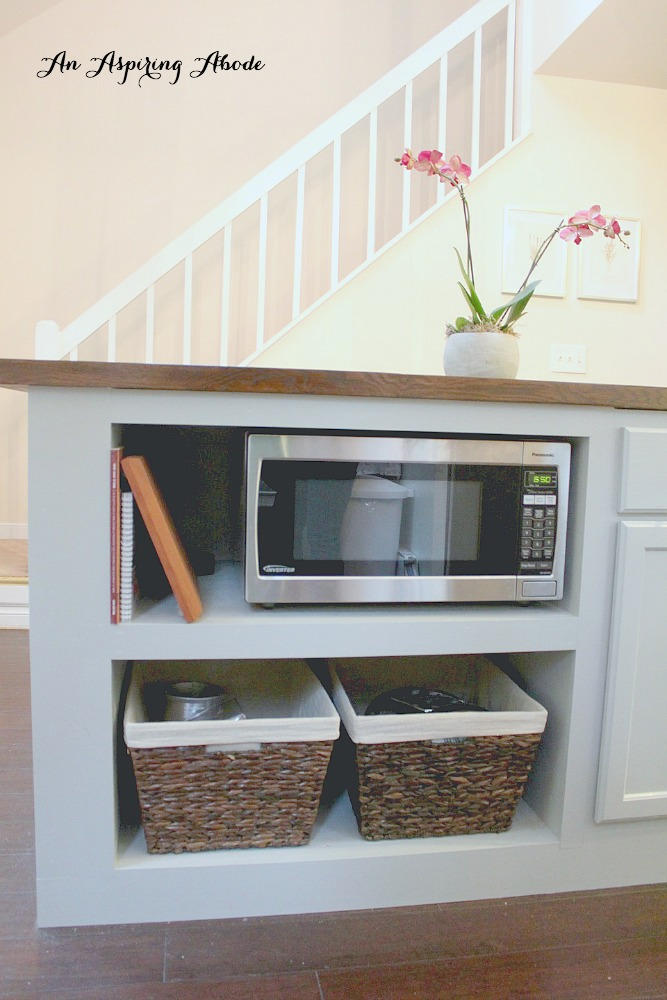 Kitchen Island with Cubbies