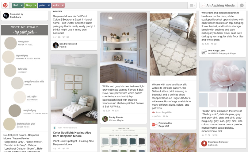 Pinterest Screenshot - Picking the Perfect paint color