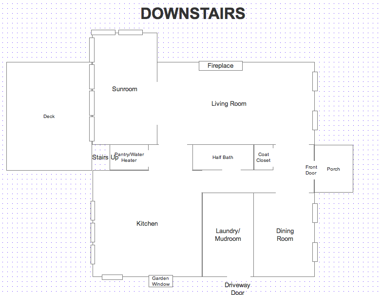 Downstairs Blueprint